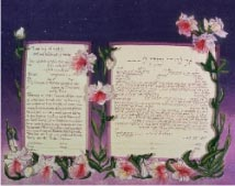 Ketubah:  Starry Night Lilies
